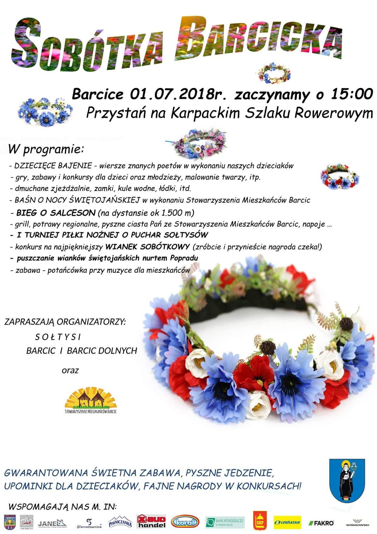 PRZYBYWAJCIE - Barcice zapraszają na Sobótkę Barcicką