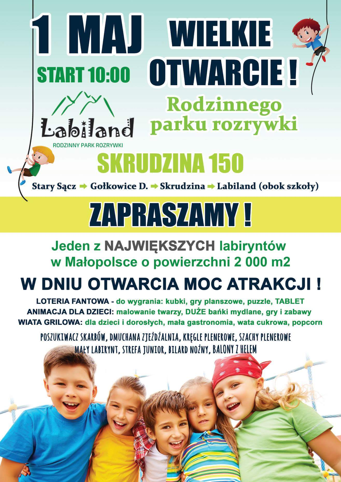 W Skrudzinie powstał LABILAND - rodzinny park rozrywki. Otwarcie 1 maja o 10:00