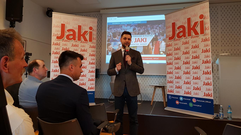 Minister Patryk Jaki w Starym Sączu.
