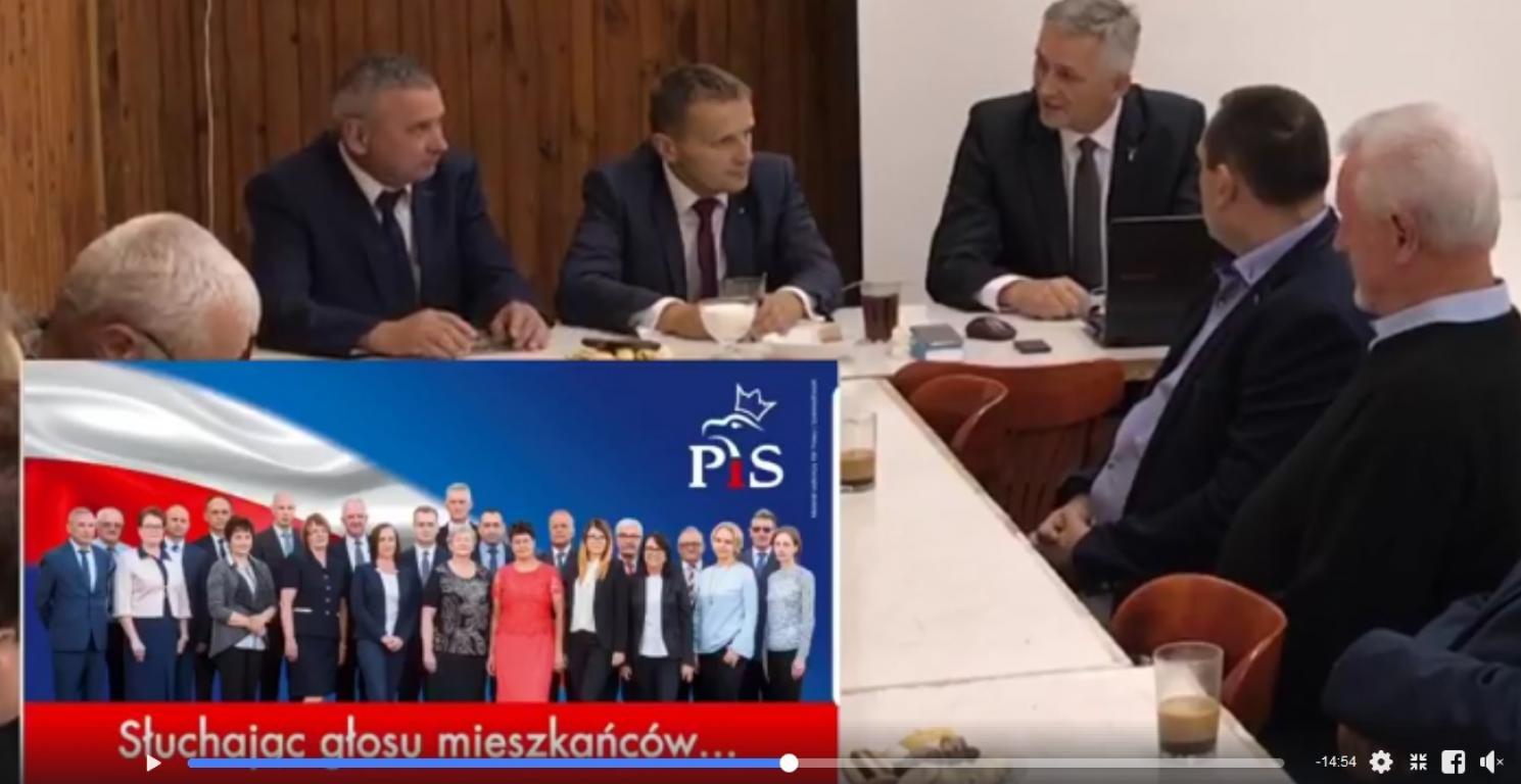 """Komitet Wyborczy  """"Prawo i Sprawiedliwość""""  spotkanie w Moszczenicy Wyżnej."""