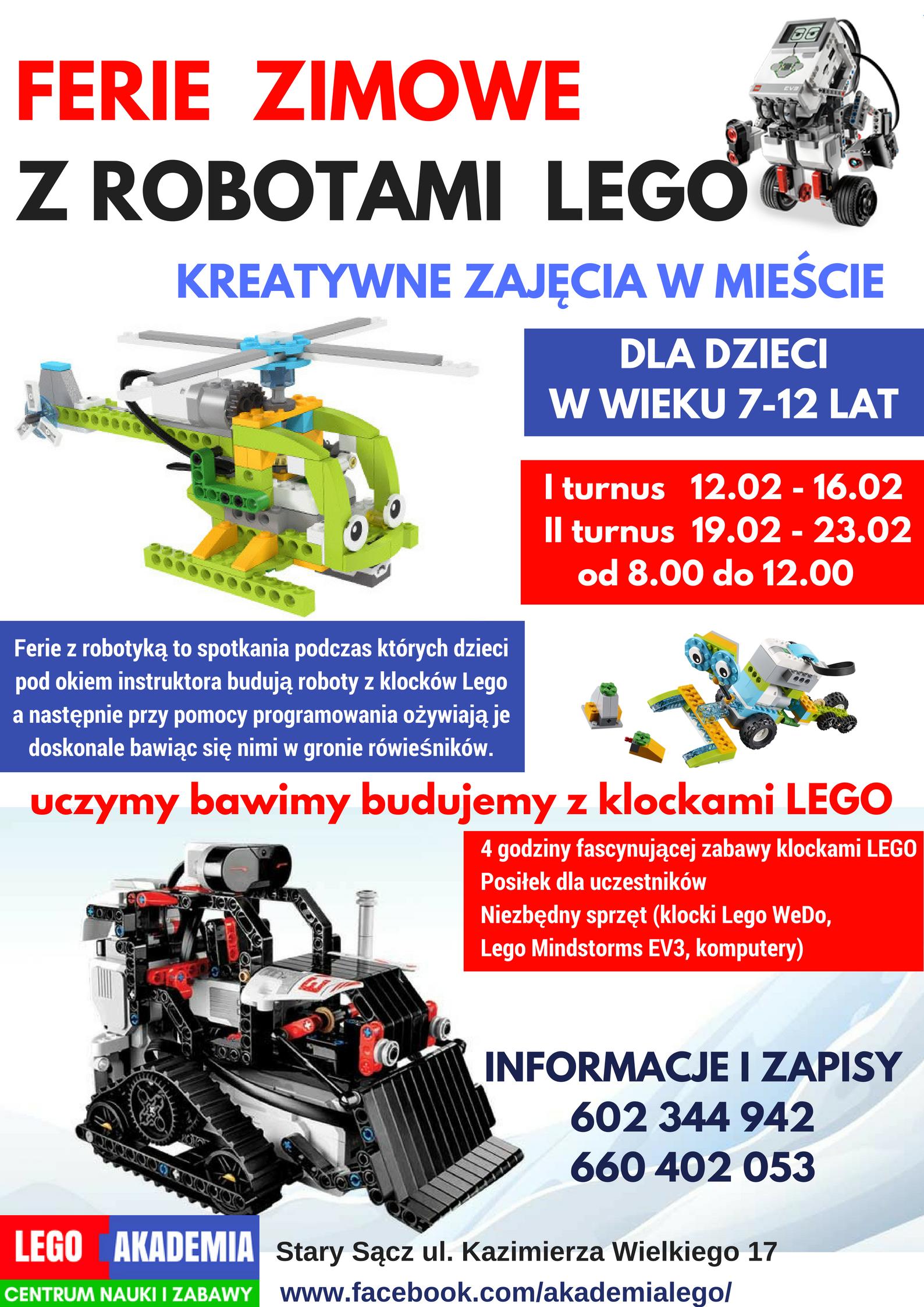 LEGO AKADEMIA !!! ferie w mieście Stary Sącz