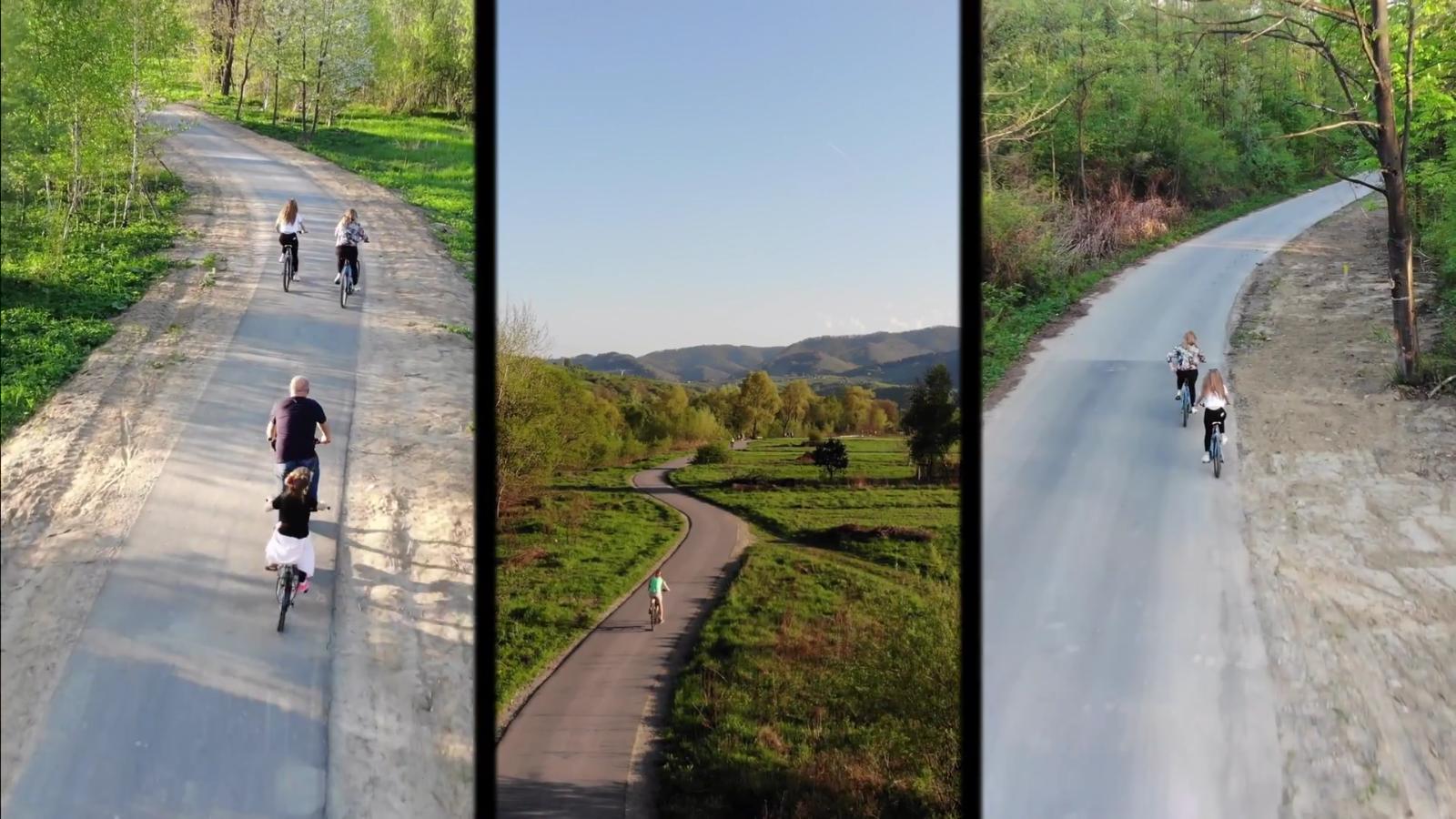 Stary Sącz - Barcice eurovelo 04.2018 rowerowo 4K - z lotu Ptaka