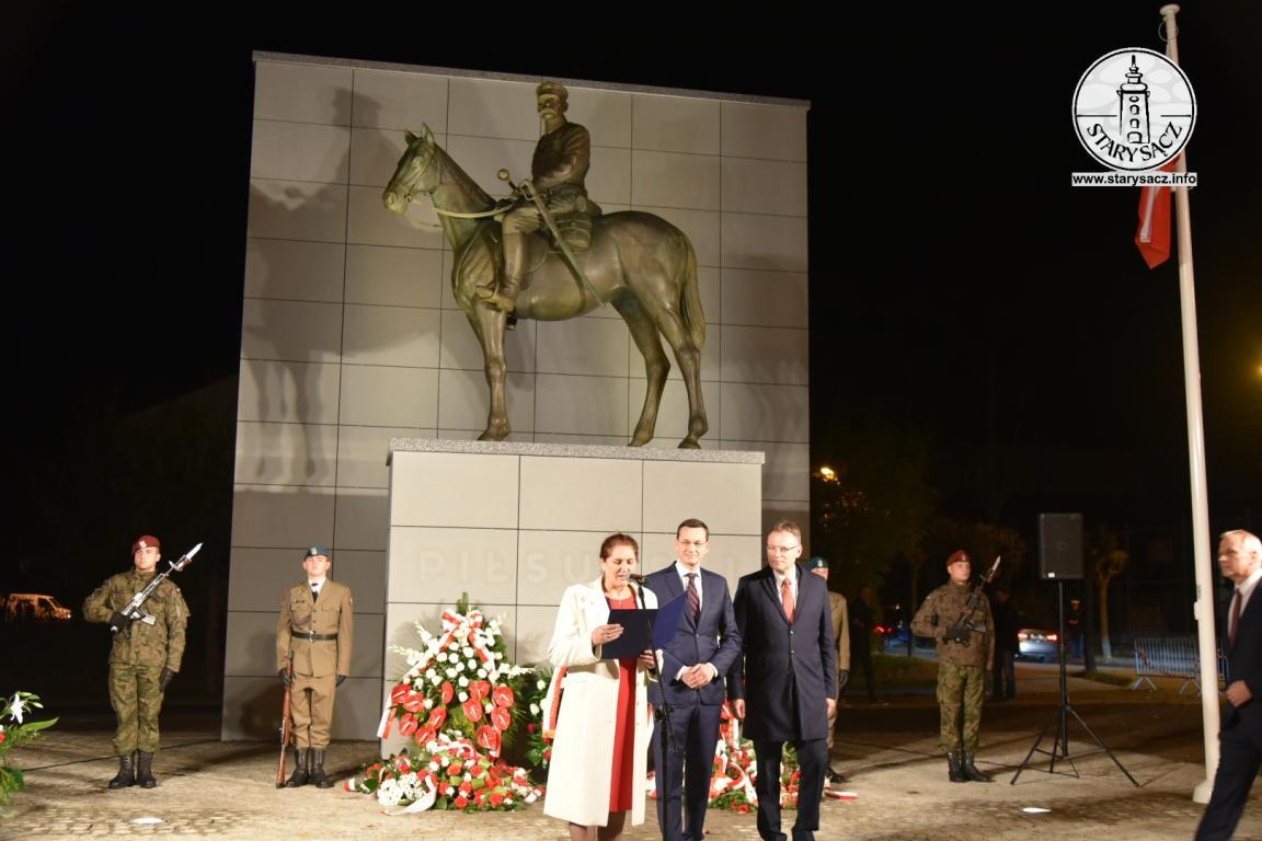Pan Premier Mateusz Morawiecki udzielił poparcia Pani Iwonie Mularczyk - kandydatce na Prezydenta Nowego Sącza ...
