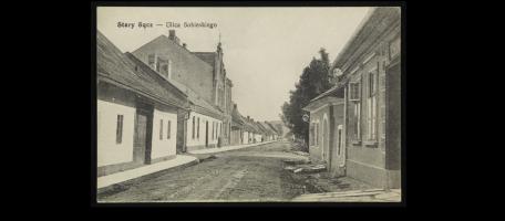 Stary Sącz dawniej i dziś - ulica Sobieskiego
