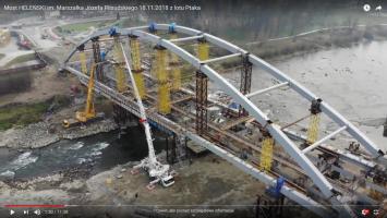 Most Marszałka Józefa Piłsudskiego - z lotu Ptaka - 18.11.2018