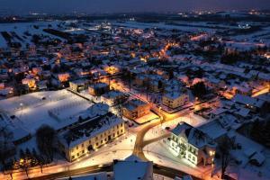 Stary Sącz z lotu Ptaka - Zima 2021